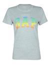 açık gri Logolu renkli kısa kollu t-shirt