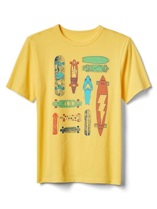 sarı Kısa kollu baskılı t-shirt