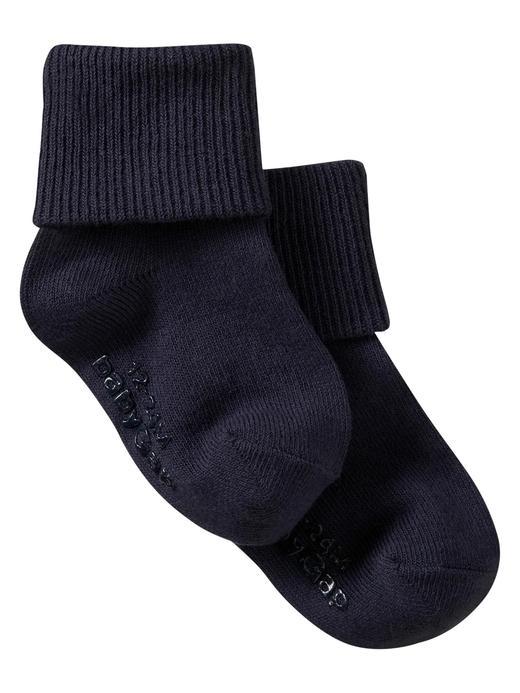 Bebek lacivert T-roll çorap