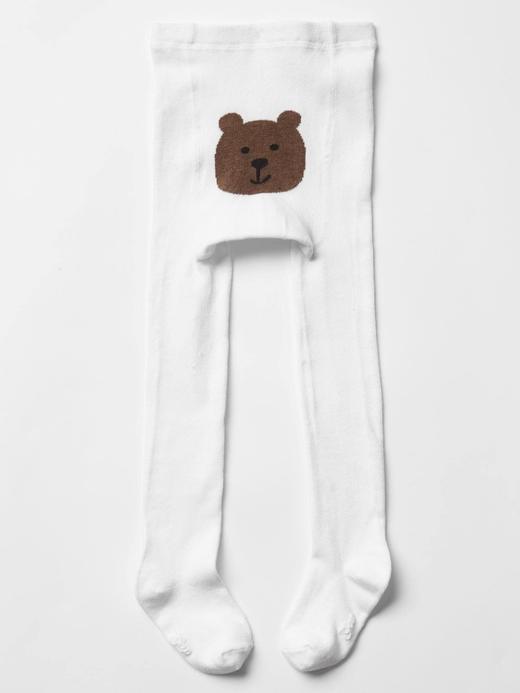 Bebek kırık beyaz Ayıcıklı külotlu çorap