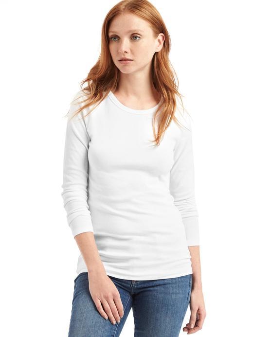 Uzun Kollu Sıfır Yaka T-Shirt