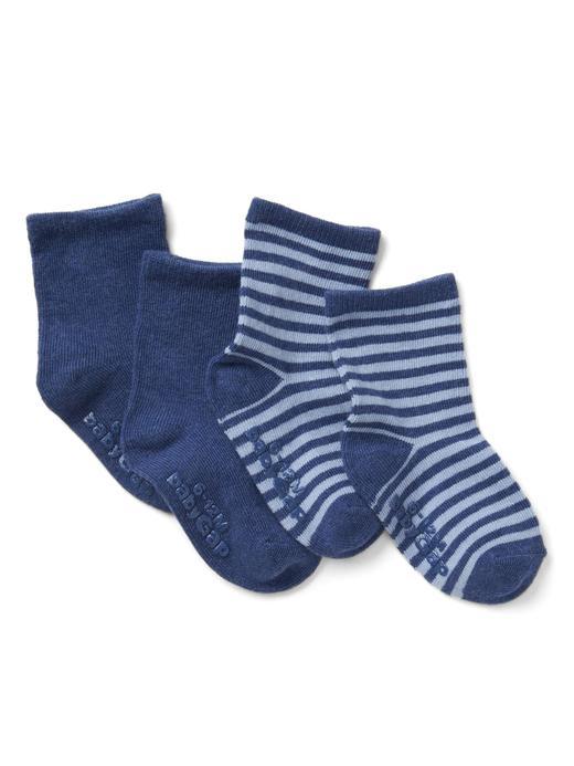 Bebek lacivert Çizgili çorap (2 parça)