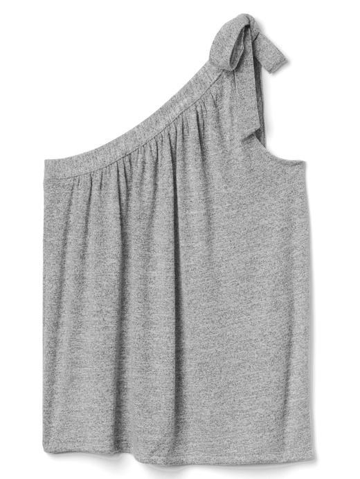 Softspun tek omuzlu bluz