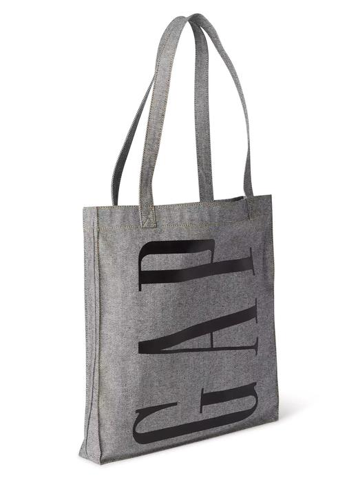 denim Logolu shopper çanta