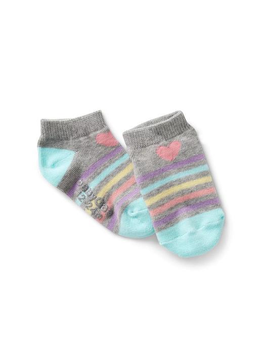 Bebek kalp desenli Çizgili grafik desenli çorap