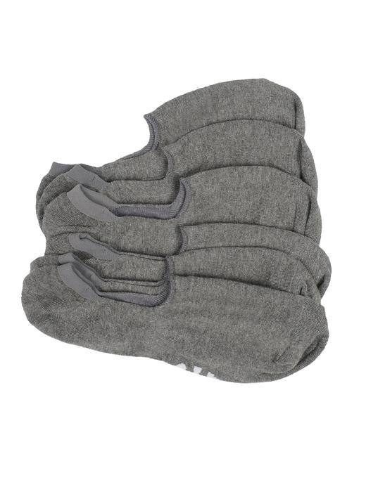 Erkek kırçıllı gri 3'lü çorap