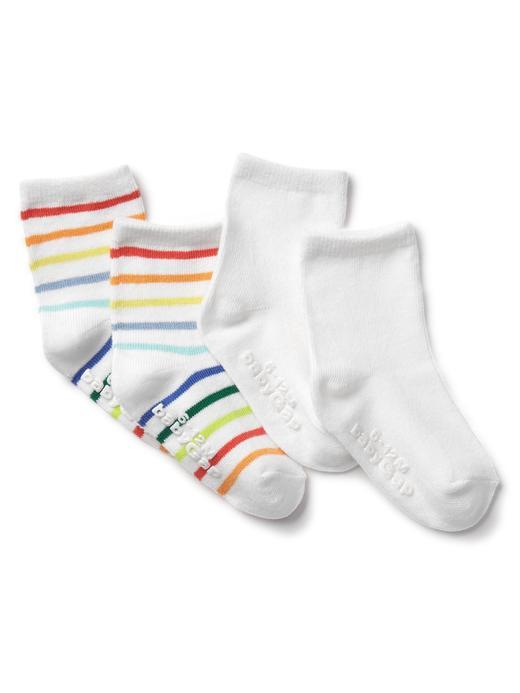 Bebek çok renkli Çizgili çorap (2 parça)