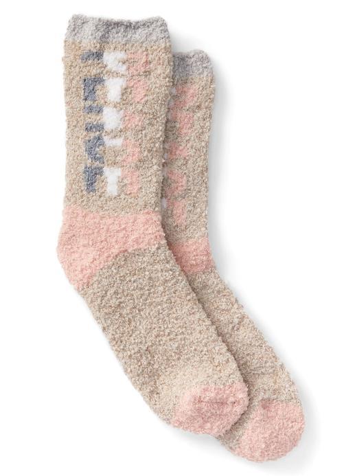 Desenli yumuşak ev çorabı