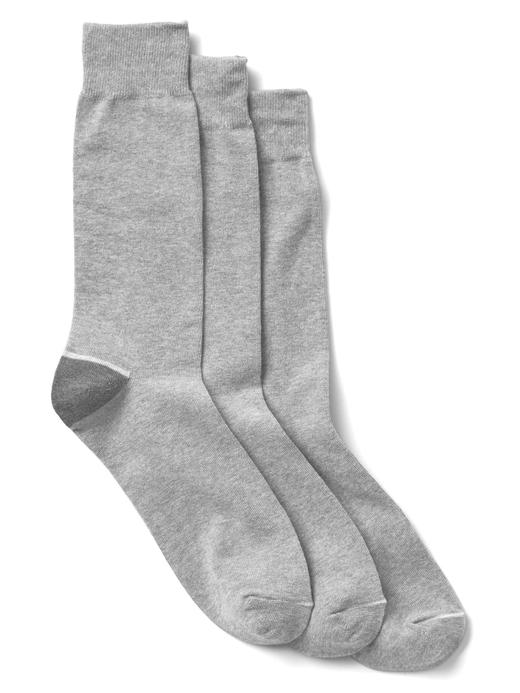 kırçıllı gri Düz renk çorap (3 parça)