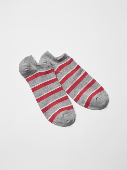 gri Çizgili kısa çorap