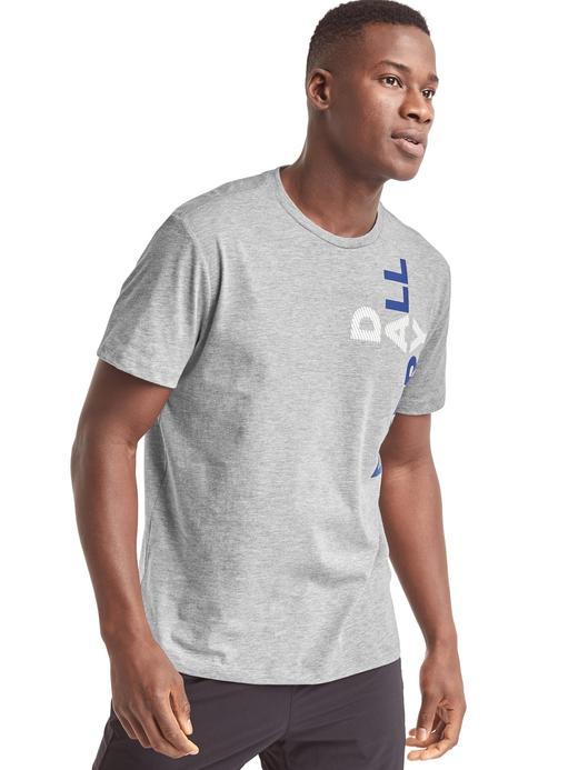 gri GDry grafik desenli t-shirt