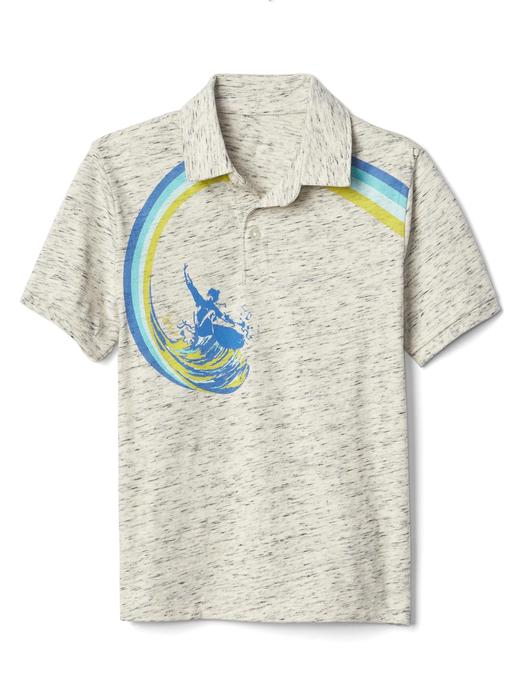 Desenli polo yaka t-shirt