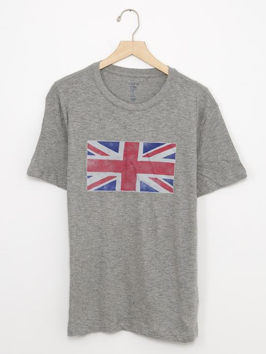 gri Grafik desenli t-shirt
