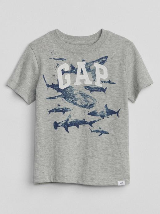 gri Grafik desenli kısa kollu t-shirt