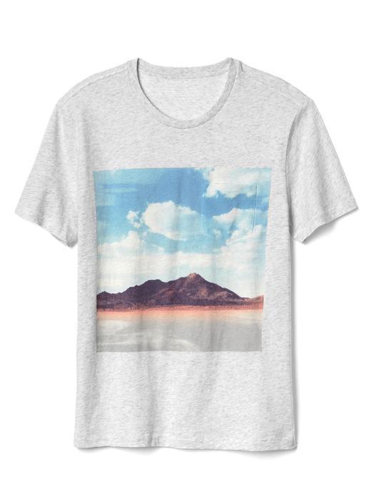 Erkek gri Gap | Neil Krug desenli t-shirt
