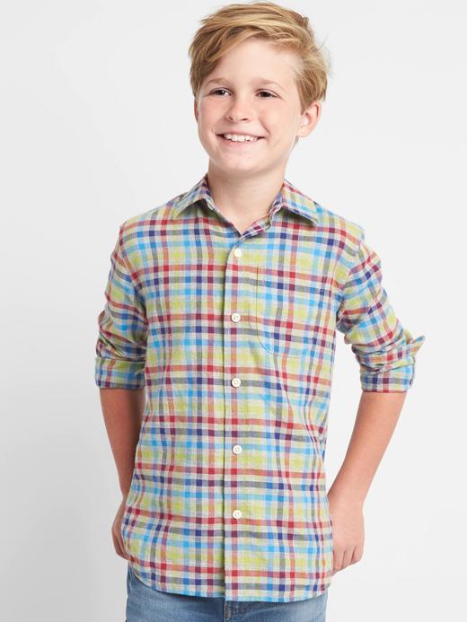 Erkek Çocuk çok renkli Uzun kollu gömlek