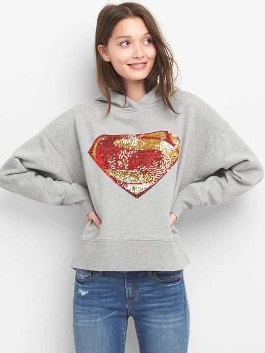 gri Gap | DC™ Superman pullu sweatshirt