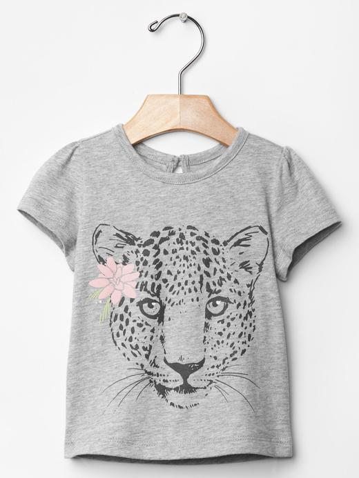 Leopar baskılı t-shirt