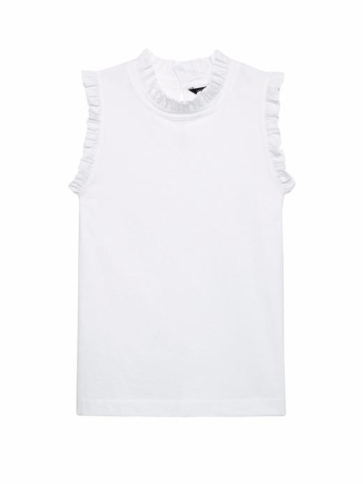 Fırfır Detaylı Kolsuz T-Shirt