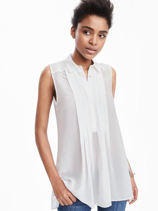 Beyaz İpek bluz