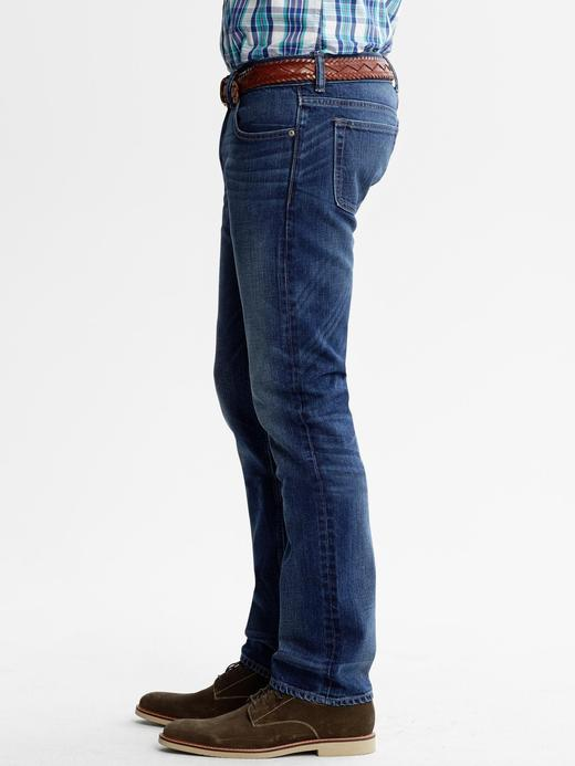 Slim-Fit Vintage Jean Pantolon