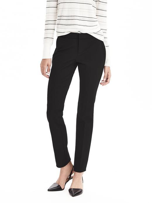 Kadın siyah Ryan-Fit Slim-Straight Pantolon