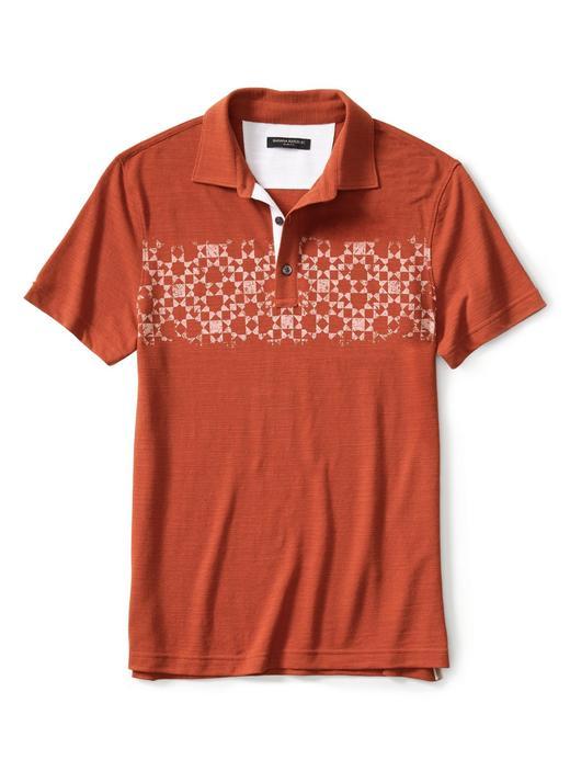 Erkek safran Slim-Fit pike polo yaka t-shirt