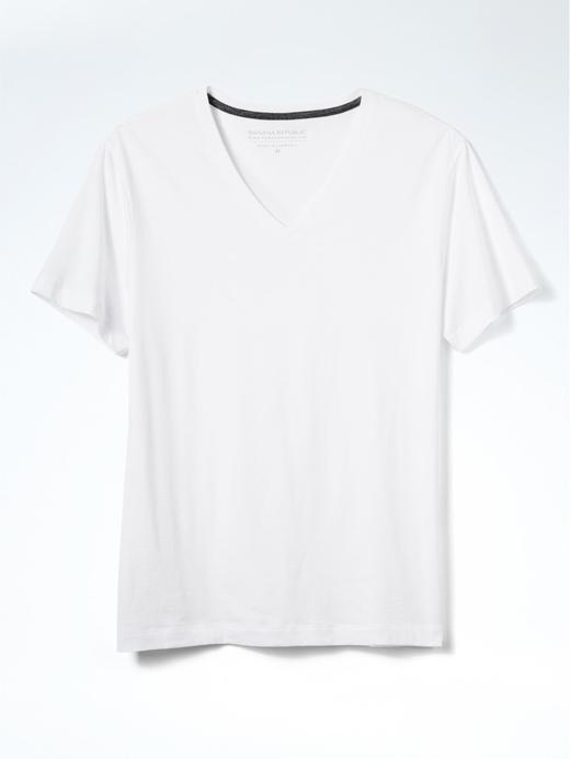 Pima Pamuk V Yaka T-Shirt