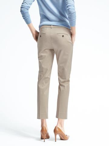 Kadın Bej Avery-Fit Saten Pantolon