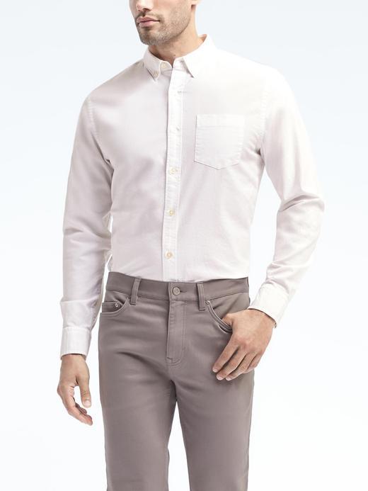 Camden Standard-Fit Pamuklu Streç Oxford Gömlek