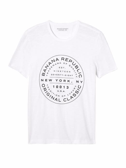 Vintage Saf Pamuklu Desenli Sıfır Yaka T-Shirt