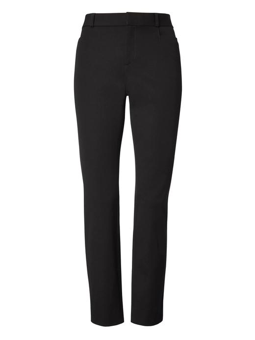 Kadın Siyah Sloan-Fit Slim Pantolon