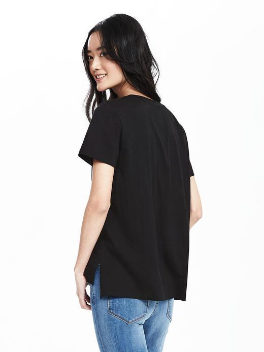 Cepli pamuk t-shirt