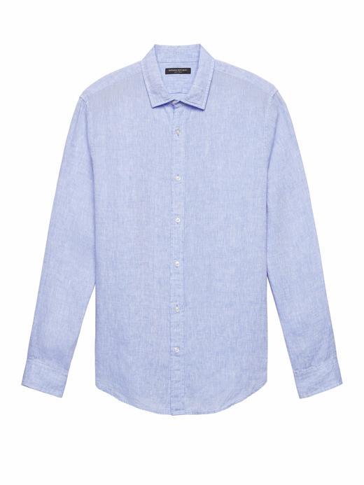 Camden Standard-Fit Keten Gömlek