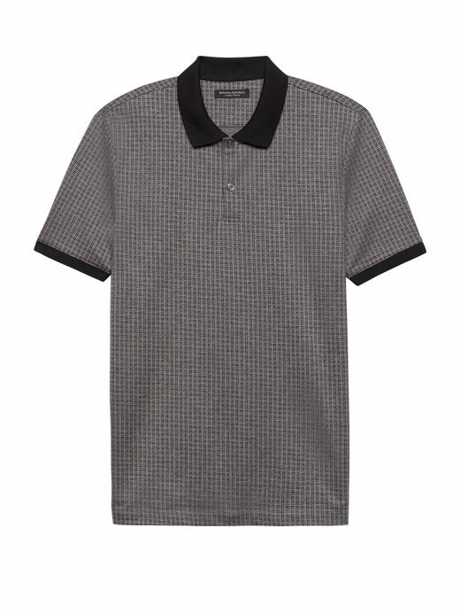 Luxury-Touch Desenli Polo T-Shirt