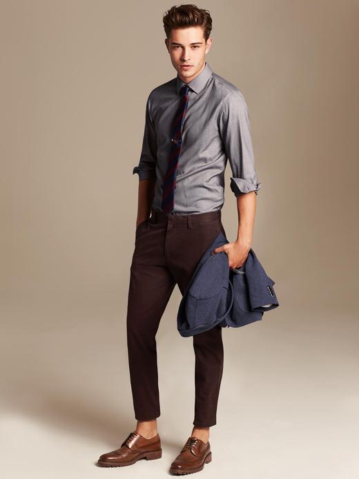 Tailored Slim-Fit Ütü Gerektirmeyen Gömlek