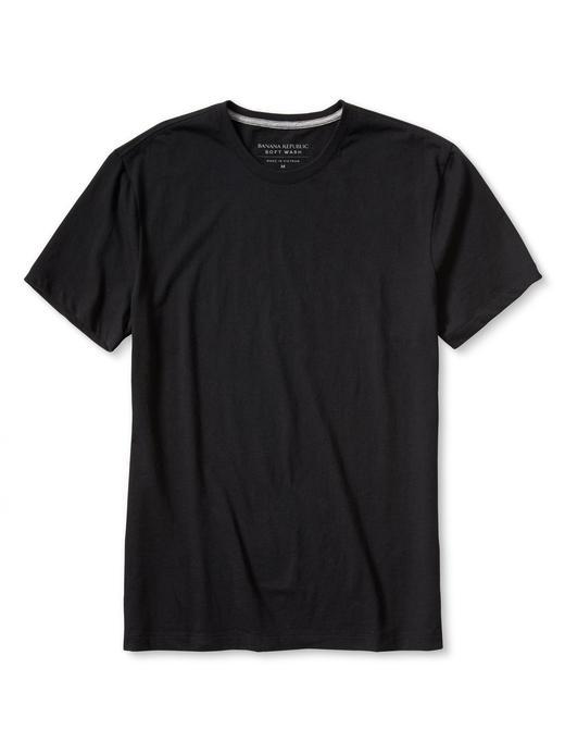 Soft-Wash Bisiklet yaka t-shirt