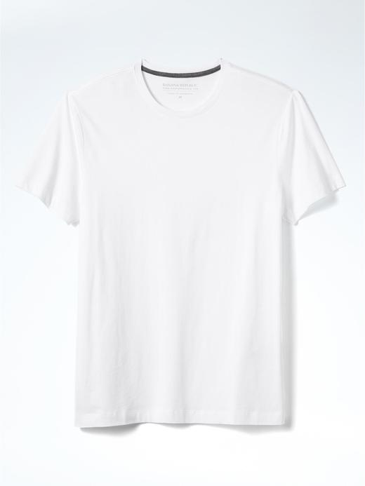 Pima Pamuklu Sıfır Yaka T-Shirt