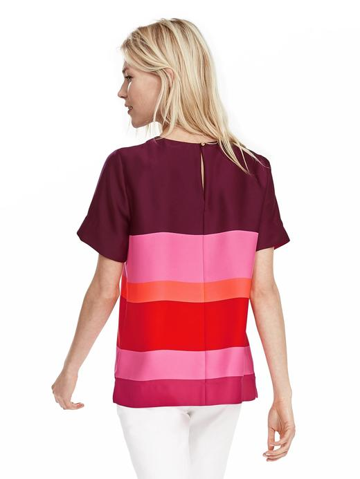 Renkli krepe bluz