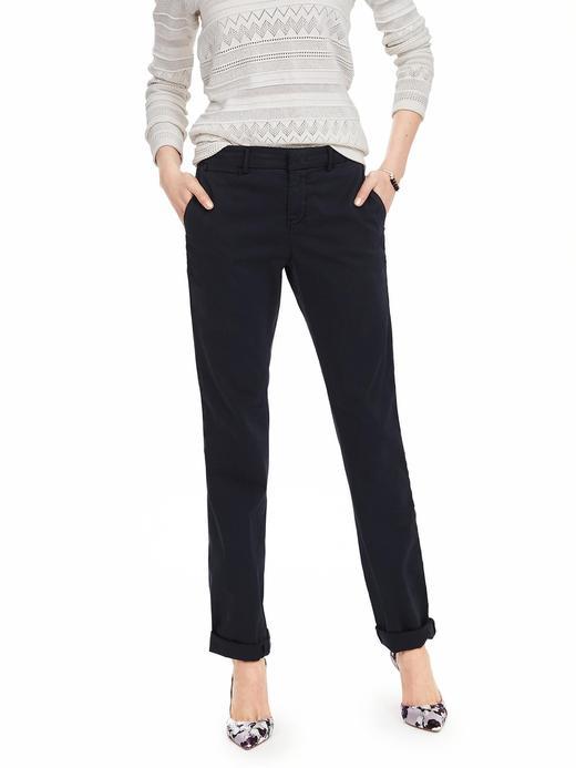 Kadın lacivert Straight-fit Chino Pantolon
