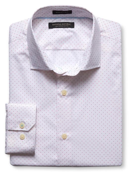 Grant-Fit benekli pamuk gömlek
