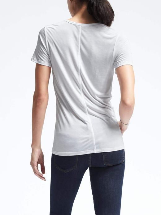 Modal kayık yaka t-shirt