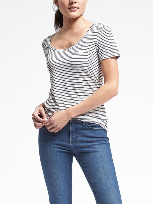 Kadın Beyaz Kısa kollu modal t-shirt