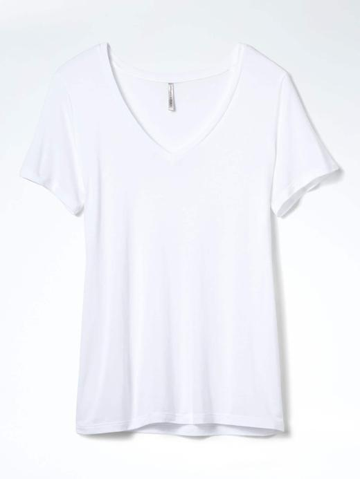 Kısa kollu V yaka modal t-shirt