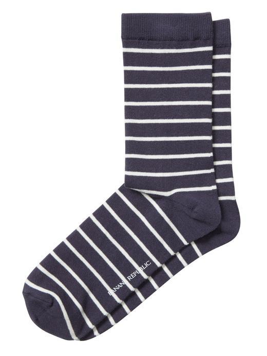 Çizgi Desenli Çorap
