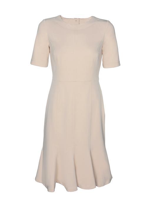 Arkası Düğmeli Yarım Kollu Elbise