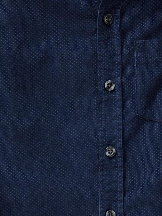 Desenli kadife gömlek