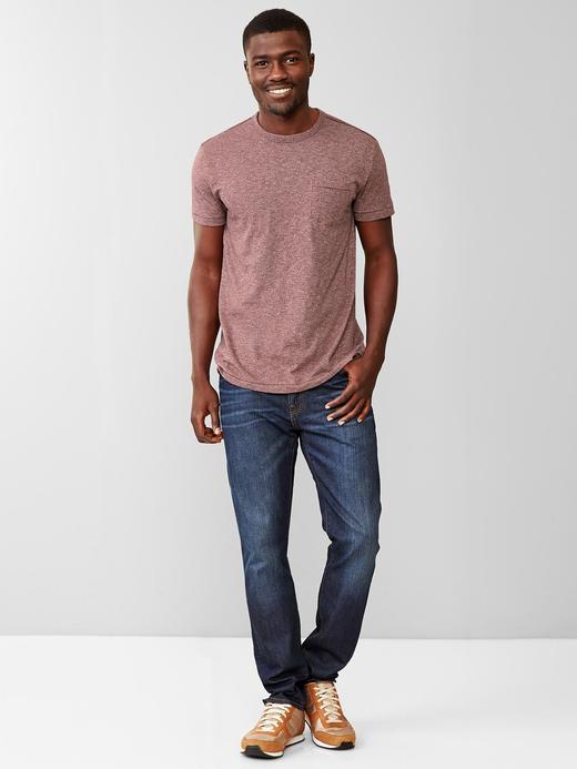 Kırçıllı cepli t-shirt