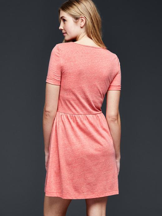 çakmaktaşı Kırçıllı t-shirt elbise