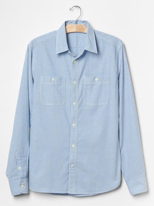 Lived-in çizgili gömlek
